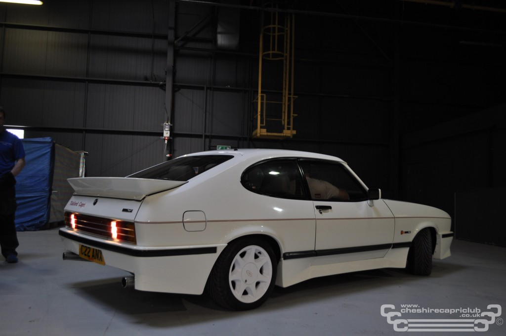 Mike Hargreaves's Stunning Tickford Capri at Event City Reversing onto the stand