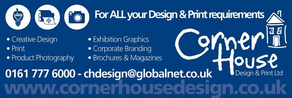 Club Sponsor Corner House Design & Print Ltd advert